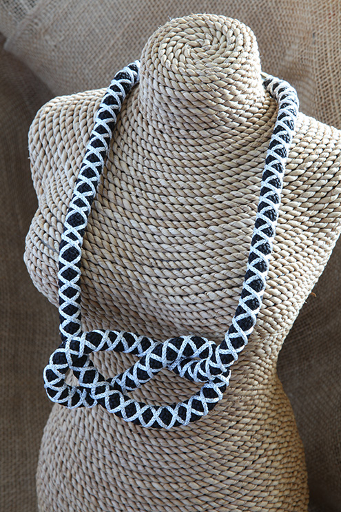 Image of Wrapped Figure of Eight Necklace