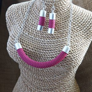 Image of Sophisticated Statement Necklace and Earring Set