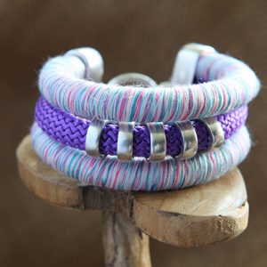 Image of Triple Cord Beaded Bracelet